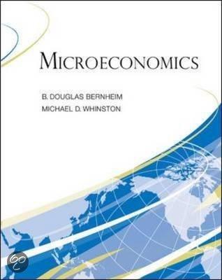 Microeconomics bernheim
