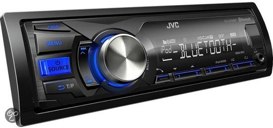 jvc kd x250bt autoradio met bluetooth zwart. Black Bedroom Furniture Sets. Home Design Ideas