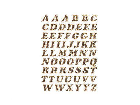Huismerk Herma 4192 Etiket met letters A-Z 8mm Goud