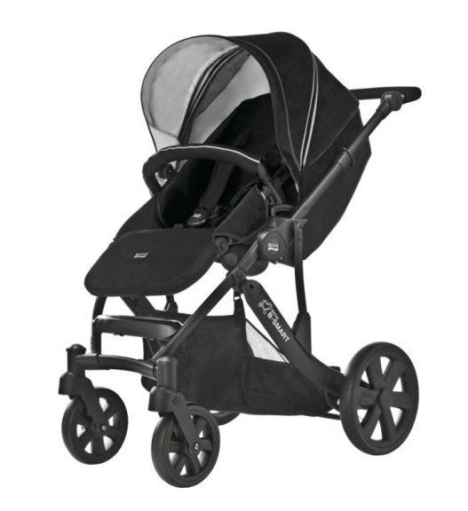 r mer britax b smart kinderwagen black thunder baby. Black Bedroom Furniture Sets. Home Design Ideas