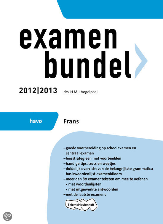 Examenbundel havo  / Frans 2012/2013