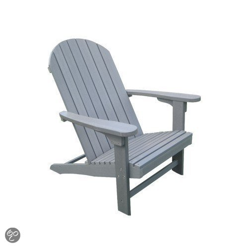 Luxus tuinstoel kunststof adirondackchair usa for Tuinstoel grijs