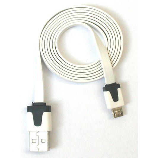 platte micro usb oplaad kabel 1 meter wit. Black Bedroom Furniture Sets. Home Design Ideas