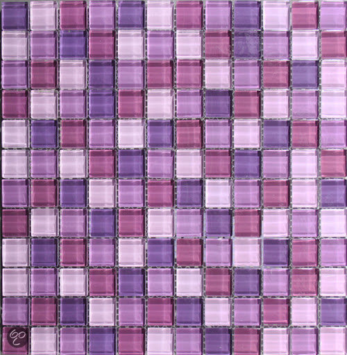 20170316&163047_Mozaiek Bloemen Badkamer ~ Venus Mozaiek Glas mix paars 2,3×2,3×0,8 cm  Mix, Paars Prijs per 1