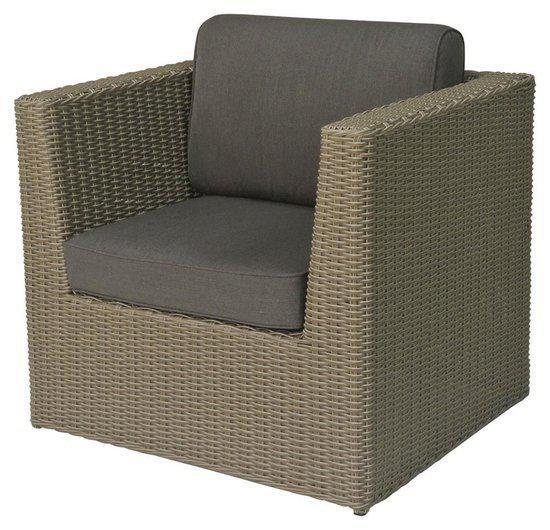 Lounge stoel loungestoel aberdeen wicker tuin - Landelijke chique lounge ...