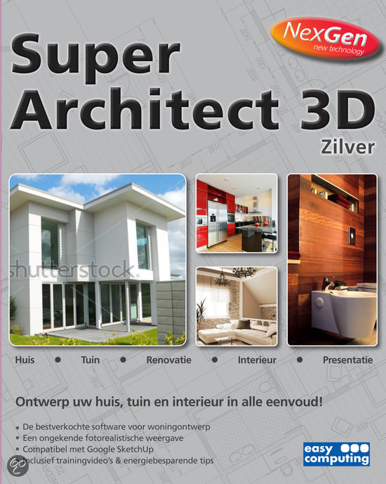 Easy Computing Super Architect 3d Zilver Nexgen - DVD-Rom / Nederlands