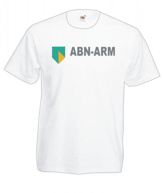Mijncadeautje Heren T-shirt wit maat XL ABN Arm in Leval-Trahegnies