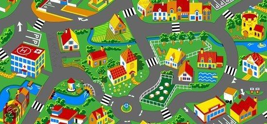 Speelkleed Village 140x200cm in Miécret