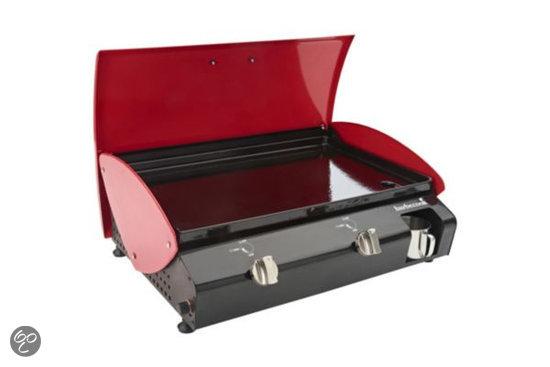 Barbecook ninho 2 0 plancha rood 2 brander koken en tafelen - Plancha trolley gas met deksel ...