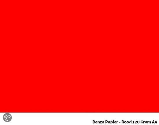 Rode Keukenapparaten : Benza Papier – Gekleurd Printpapier Hobbykarton 120 Gr. (Gram) A4