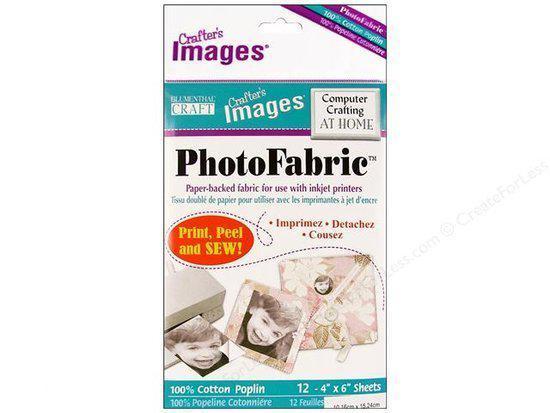 PhotoFabric Cotton Poplin Fabric Sheets Mini (12 vel) 0097327443726