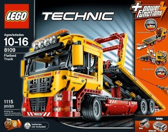 lego technic truck met laadplatform 8109 lego. Black Bedroom Furniture Sets. Home Design Ideas