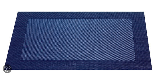 ASA Selection Geweven Rand Placemat -  33 x 46 cm - Donkerblauw