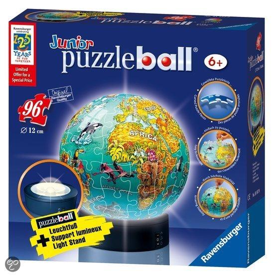 ravensburger puzzleball wereldkaart met licht. Black Bedroom Furniture Sets. Home Design Ideas