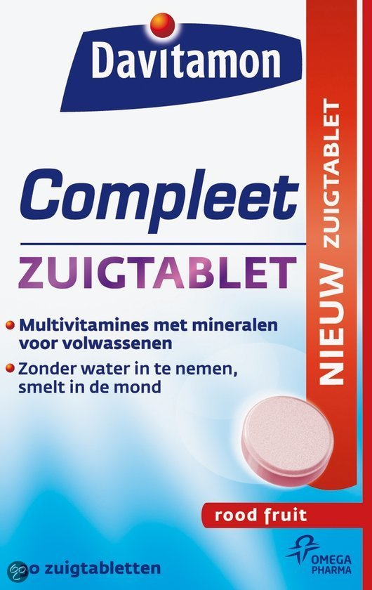Davitamon Compleet Rood fruit - 30 Zuigtabletten
