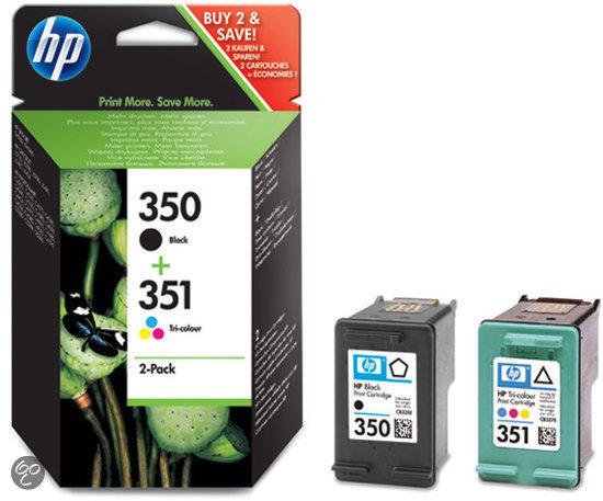 HP 350 / 351 - Inktcartridge Cyaan / Magenta / Geel / Zwart - Duo pack