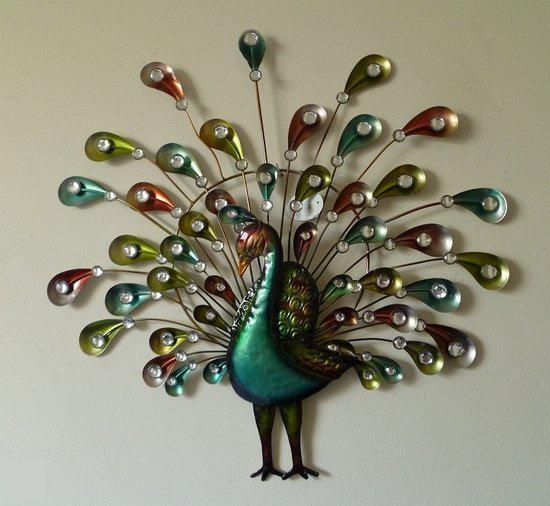 bolcom dekogifts wanddecoratie pauw