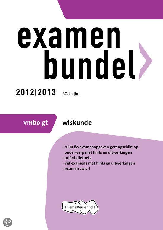 Examenbundel vmbo-gt  / Wiskunde 2012/2013