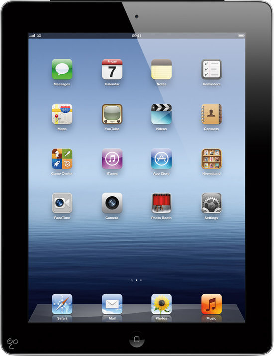 Apple iPad 3 met Wi-Fi + 4G 16GB - Zwart