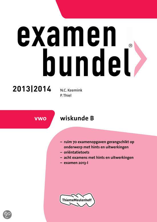 Examenbundel  / 2013/2014 vwo Wiskunde B