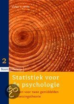 Statistiek voor de psychologie / 2