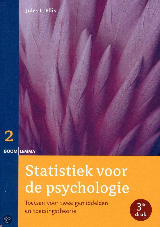 Statistiek voor de psychologie / Deel 2 toetsen voor twee gemiddelden en toetsingstheorie
