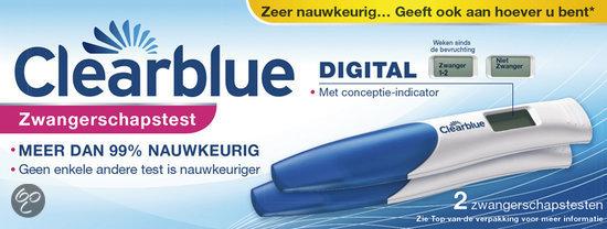 Clearblue Digital - 2 stuks - Zwangerschapstest