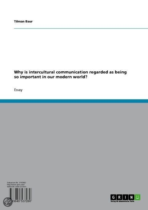 intercultural communication essay questions