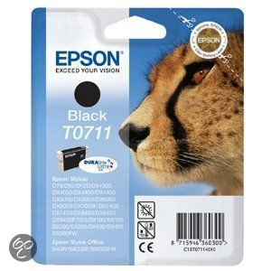 Epson T0711 - Inktcartridge / Zwart