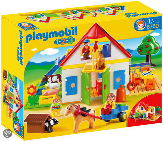 playmobil 123 grote boerderij 6750 playmobil. Black Bedroom Furniture Sets. Home Design Ideas