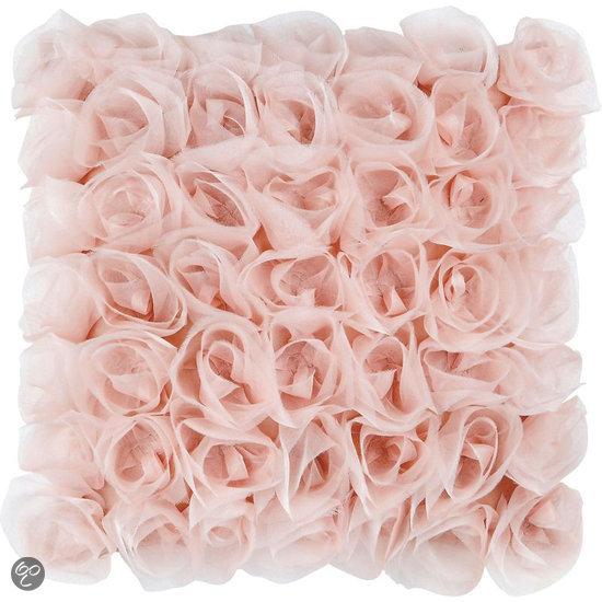bolcom moltex sierkussen bouquet oudroze 40x40 cm