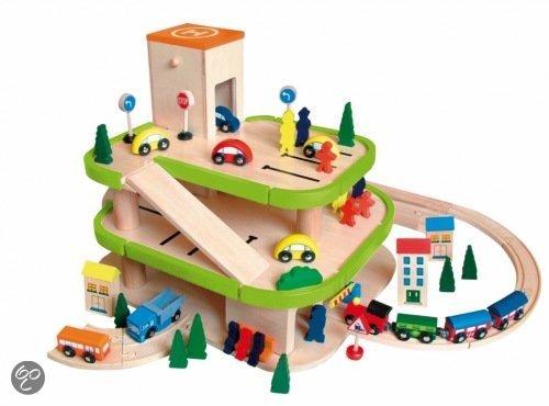 Houten Garage Speelgoed : 🙌 top speelgoed vandaag speciale woody garage hout met lift