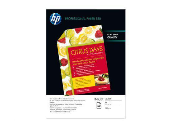 HP Fotopapier A4 180 Grams papier Glans C6818A - Pak à 50 vel