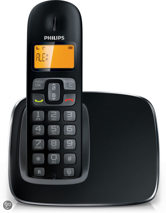 Philips CD1901- Single DECT telefoon - Zwart