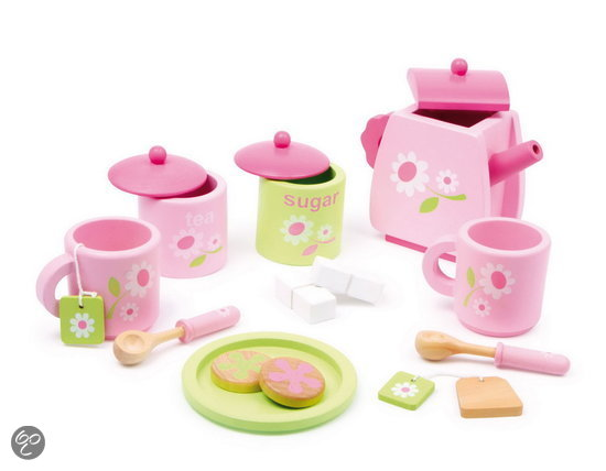 Houten Keuken Hema : bol com Houten thee servies  Rosa  Speelgoed