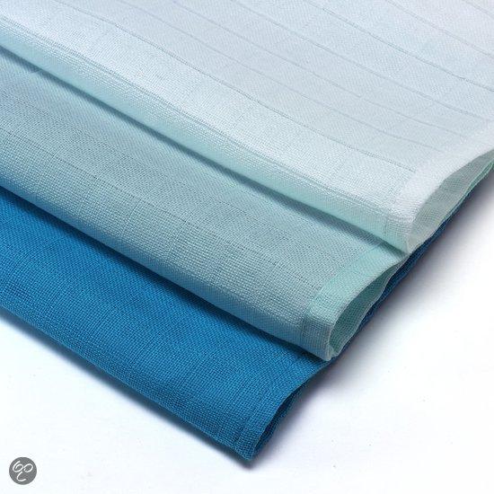 Babsana - Monddoekje Hydro Set 3 Stuks - Blauw-Wit-Aqua