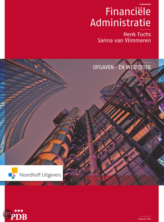 PDB Financiele administratie-opgaven/werkboek