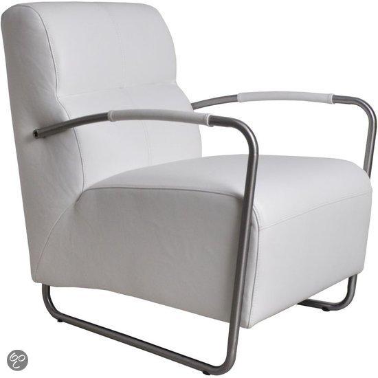 Zuiver fauteuil Island Armleuningen - Wit Leer