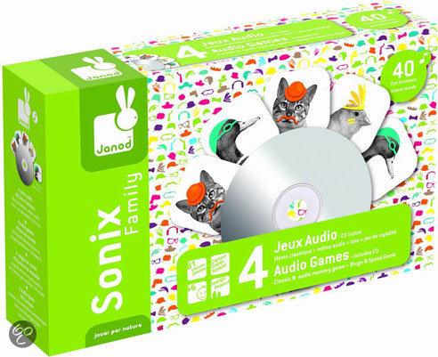 Janod Sonix Dieren - Familie inclusief CD + 80 kaarten