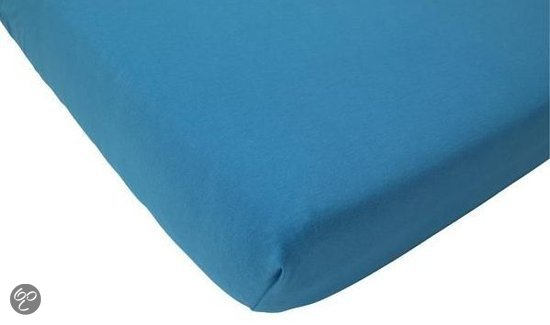 Jollein Little Naturals - Jersey Organic Hoeslakentje 75x150 cm - Turquoise