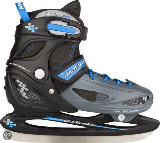 Nijdam Junior IJshockeyschaatsen Verstelbaar - Hardboot - Maat 34-37
