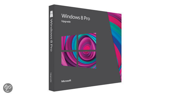 Microsoft Windows Pro 8 - Engels / 32-bit/64-bit / Upgrade / DVD