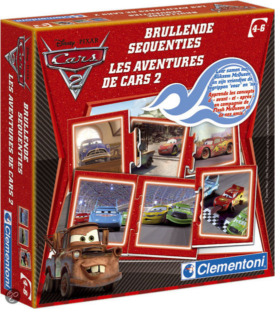 Clementoni Cars 2 Brullende Sequenties - Kaartspel