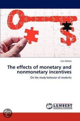 the effectiveness of monetary incentives on Monetary incentives are effective in motivating particular and desired individual behaviors on the one hand, there has been a large experimental literature .