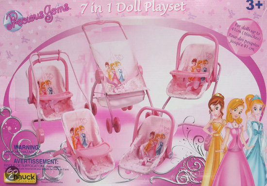 Prinsessen poppenset 7 in 1
