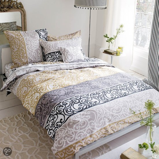 designers guild dekbedovertrek fretz noir 240x200 220 cm wonen. Black Bedroom Furniture Sets. Home Design Ideas