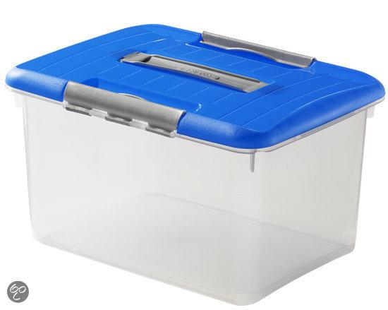Curver Optima Opbergbox - 15 l - Kunststof - Transparant / Blauw