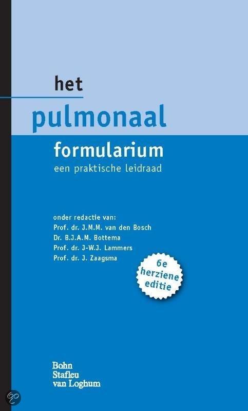 Het pulmonaal formularium