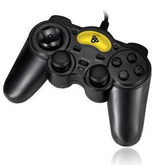 Playfect Thunder Controller Vibratie Zwart PS2