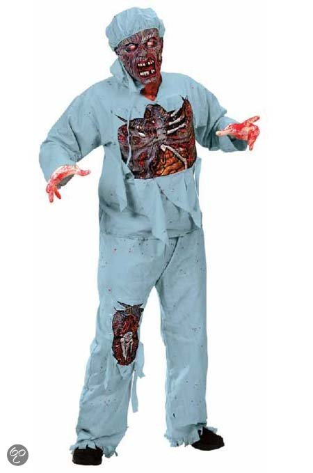 Zombie dokter outfit in Raayen